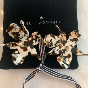 Lele Sadoughi Paper Lilly Earrings Clip On
